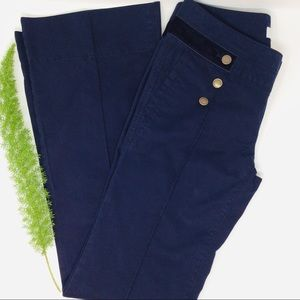 LOFT Ann Taylor Stylish Navy Blue Flared Pants (0)